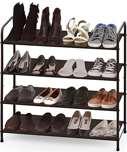 Simple Houseware 4-Tier Shoe Rack Storage Organizer, Bronze