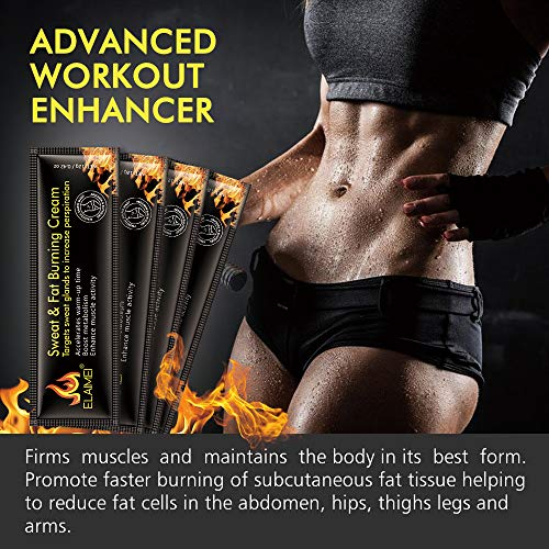 Hot Sweat Cream(10 pack), Extreme Cellulite Slimming & Firming Cream
