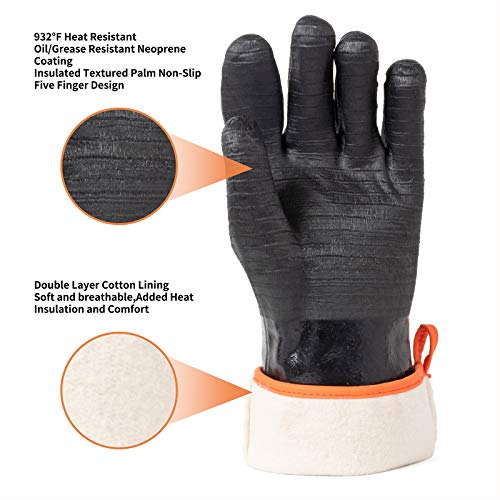 OYOGAA Grill BBQ Gloves, 932℉ Heat Resistant Oven Gloves Cooking Barbecue Gloves