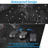 EFISH Large Gaming Mouse Map Pad,with Non-Slip Base,Waterproof and Foldable Pad