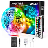 Daybetter 5050 RGB Infrared Remote Control Color Changing 24.6ft Led Strip Lights
