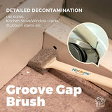 Holikme 5 pack Deep Clean Brush Set,Scrub Brush&Grout and Corner brush&Scrub
