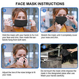 Face Masks for Protection 3-ply Colorful Disposable Safety Mask (Black)