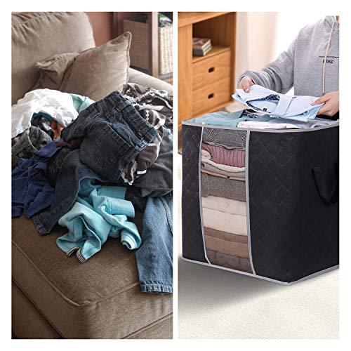 Lifewit Clothes Storage Bag 90L Large Capacity Organizer with Reinforced Handle