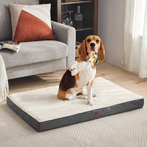 EHEYCIGA Orthopedic Dog Bed for Medium & Small Dogs, Foam Dog Crate Bed Pet Bed