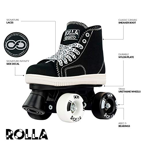 Crazy Skates Rolla Roller Skates for Boys and Girls - Great Beginner Kids Quad Skates