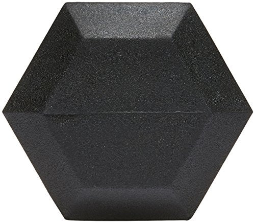 Amazon Basics Rubber Encased Hex Dumbbell Weight - 10.7 x 4 x 3.5 Inches, 10 Pounds