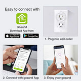 Smart Plug, Gosund Mini WiFi Outlet Works with Alexa, Google Home, No Hub Required,