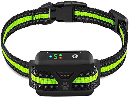 Dog Bark Collar -5 Adjustable Sensitivity and Intensity Levels-Dual Anti-Barking Modes