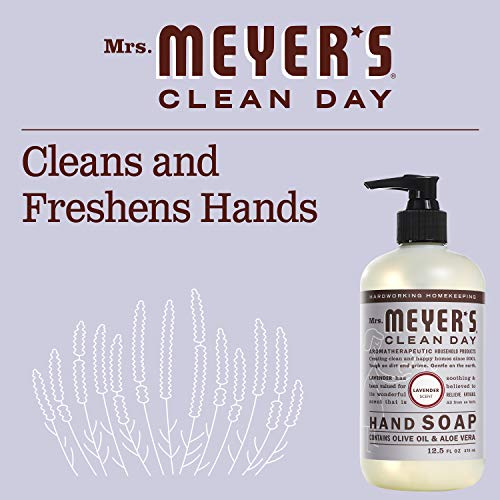 Mrs. Meyer's Clean Day Liquid Hand Soap, Cruelty Free and Biodegradable Formula