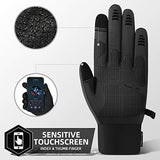 Winter Gloves for Men,Waterproof Thermal Gloves Cold Weather Running Gloves