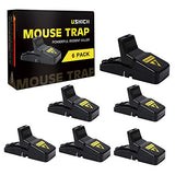 USKICH Mouse Trap, Rat Traps, Small Mice Traps, Rodent Trap with Detachable Bait Cup