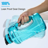 KEEPTO Half Gallon/64oz Leakproof BPA Free Water Bottle with Motivational Time