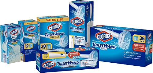 Clorox ToiletWand Disinfecting Refills, Rainforest Rush, 30 Ct (Package May Vary)