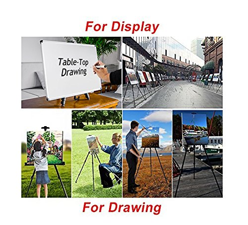 "T-Sign 66"" Reinforced Artist Easel Stand, Extra Thick Aluminum Metal Tripod Display"