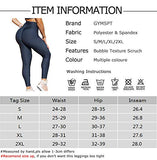 GYMSPT High Waisted Yoga Pants for Women, Tummy Control Ruched Butt Lifting Work