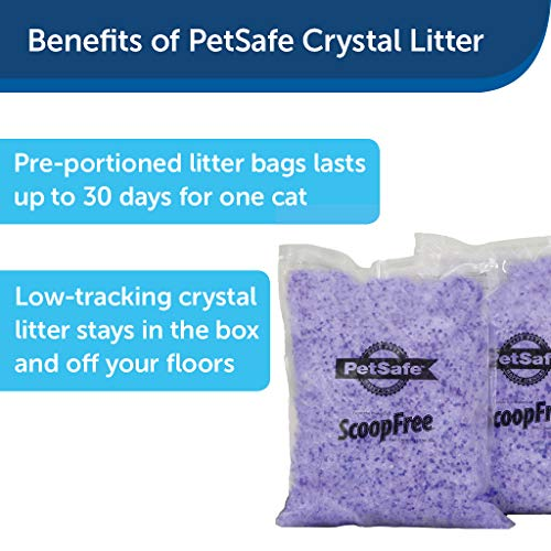 PetSafe ScoopFree Lavender Non Clumping Crystal Cat Litter, 2-Pack , One size