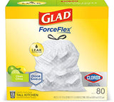 Glad OdorShield Tall Kitchen Antimicrobial Drawstring Trash Bags - Scented - 13 Gallon