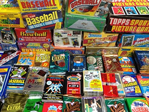 MLB Baseball (100) Cards in Sealed Wax Packs Topps Donruss Score Upper Deck