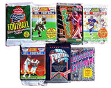 100 Vintage Football Cards in Old Sealed Wax Packs - Perfect for New Collectors