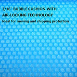 "2-Pack Blue Bubble Cushioning Wrap Rolls, 3/16"" Air Bubble, 12 Inch x 72 Feet Total"