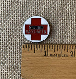 COVID Vaccinated Metal Pin - Red Cross - COVID-19 Vaccine Pin - COVID Vaccine Pin