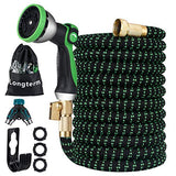 Longterm Expandable Garden Hose Set 50ft,Strength Fabric 3750D,6 Latex Layers,3/4""