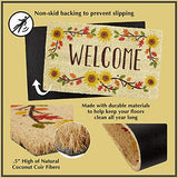 DII Welcome Home Natural Coir Doormat, Indoor/Outdoor, 18x30, Bonjour