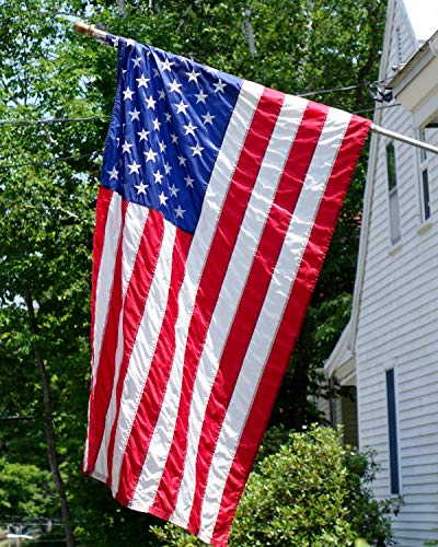 VIPPER American Flag 3x5 FT Outdoor - Made in USA Heavy Duty Nylon Us Flags