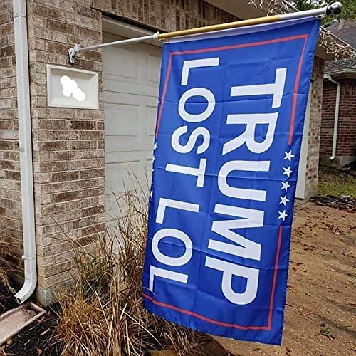 MOVINPE Trump Lost LOL Flag - Trump Lost Flag Indoor Outdoor - Double Stitched