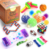 Sensory Fidget Toys Set, 25 Pcs, Stress Relief and Anti-Anxiety Tools Bundle for Kids and Adults