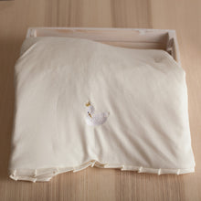 Load image into Gallery viewer, Pima Cotton Embroidery Swan Blanket