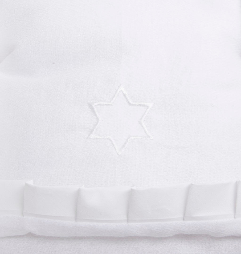 White Blanket Embroidery Star Of David