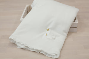 Pima Cotton Embroidery Swan Blanket
