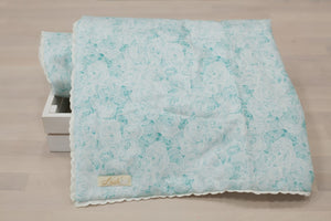Teal Rose Blanket