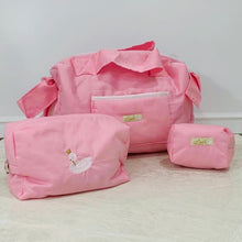 Load image into Gallery viewer, Hot Pink Diaper Bag set of 3 items