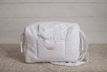Load image into Gallery viewer, White Lace Sheer Diaper Bag set of 3 items