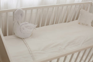 Baby Crib Set White diamond pique 7 items Set