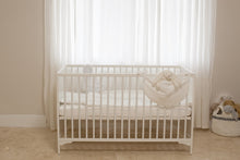 Load image into Gallery viewer, Baby Crib Set White diamond pique 7 items Set