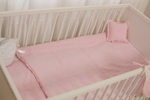 Baby Crib Set Pink 7 items Set