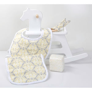 Yellow Damask 4 Pieces Gift Set