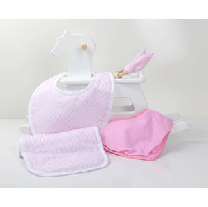 Pink Stripes 4 Pieces Gift Set