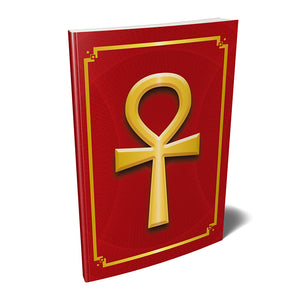 "Ankh Kemetic Egyptian Softcover Notebook Journal (Red) 7"" x 10"" Blank, Lined, Graph, or Dot Grid"