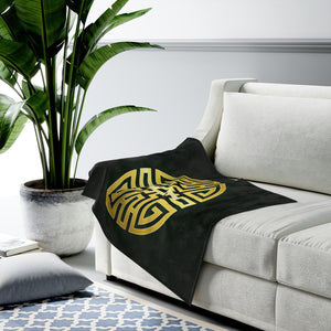 Cai Feng Shui Wealth Attraction Velveteen Plush Blanket - Emerald