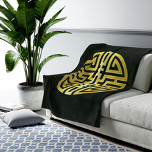 Load image into Gallery viewer, Cai Feng Shui Wealth Attraction Velveteen Plush Blanket - Emerald
