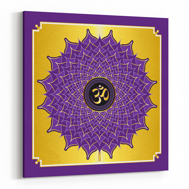 Crown Chakra on Square Canvas