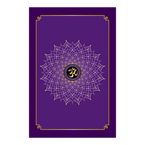 "Crown Chakra Hardcover Journal 7.125"" x 10.25"" Blank, Lined, Graph, or Dot Grid"