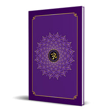 "Load image into Gallery viewer, Crown Chakra Hardcover Journal 7.125"" x 10.25"" Blank, Lined, Graph, or Dot Grid"