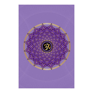 "Crown Chakra Hardcover Journal (Lavender) 7.125"" x 10.25"" Blank, Lined, Graph, or Dot Grid"
