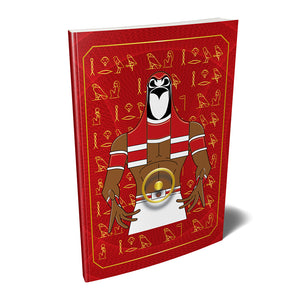 "Heru Horus Kemetic Egyptian Softcover Notebook Journal 7"" x 10"" Blank, Lined, Graph, or Dot Grid"